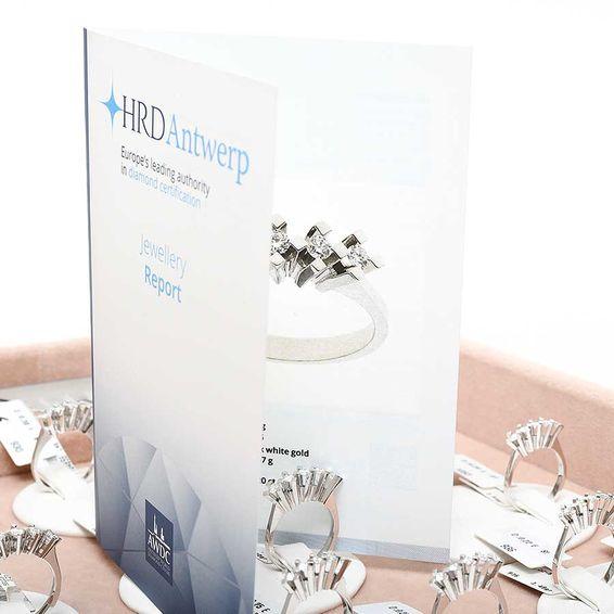 HRD Sertifikalı 0,20 Karat Pırlanta Beştaş Yüzük