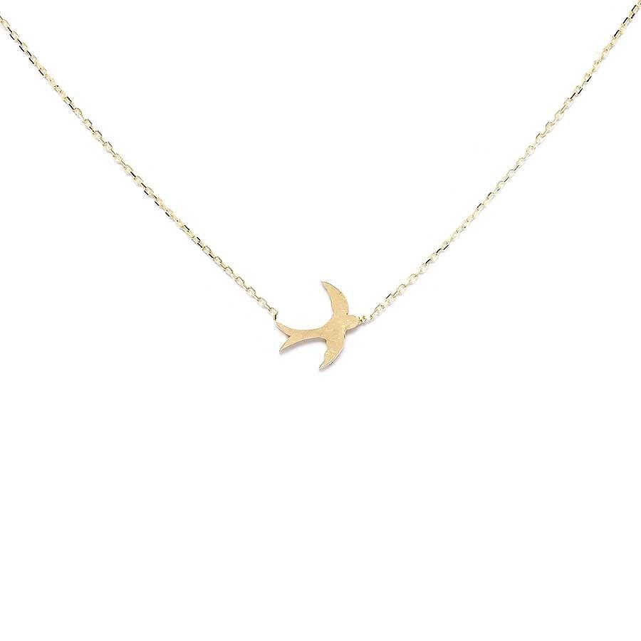 Mücevher Dünyası - 10 Ayar Kuş Altın Kolye
