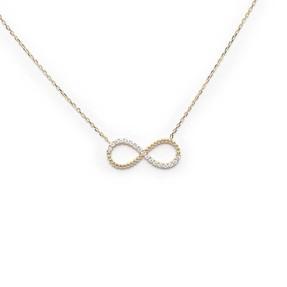 Mücevher Dünyası - 10 Ayar Taşlı Sonsuzluk Altın Kolye