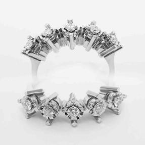 Mücevher Dünyası - 0,33 Karat Pırlanta Beştaş Yüzük | Mücevher Dünyası