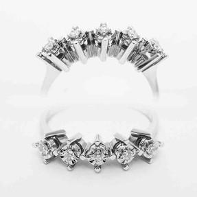 Mücevher Dünyası - 0,14 Karat Pırlanta Beştaş Yüzük | Mücevher Dünyası