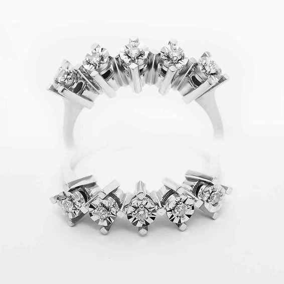 Mücevher Dünyası - 0,15 Karat Pırlanta Beştaş Yüzük | Mücevher Dünyası