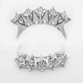 Mücevher Dünyası - 0,20 Karat Pırlanta Beştaş Yüzük | Mücevher Dünyası