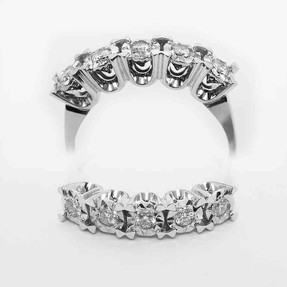 Mücevher Dünyası - 0,21 Karat Pırlanta Beştaş Yüzük | Mücevher Dünyası