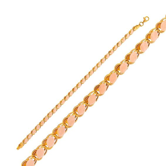 Mücevher Dünyası - 14 Ayar Pullu Altın Bileklik