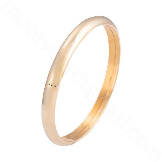 Mücevher Dünyası - 14 Ayar Altın Bilezik Kelepçe