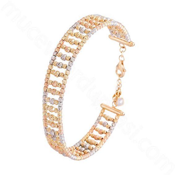 Mücevher Dünyası - 14 Ayar Altın Dorika Bilezik Kelepçe