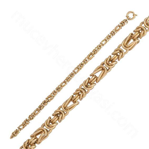 Mücevher Dünyası - 14 Ayar Altın Erkek Bileklik