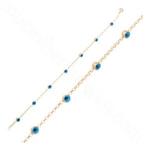 Mücevher Dünyası - 14 Ayar Altın Nazar Boncuklu Bileklik
