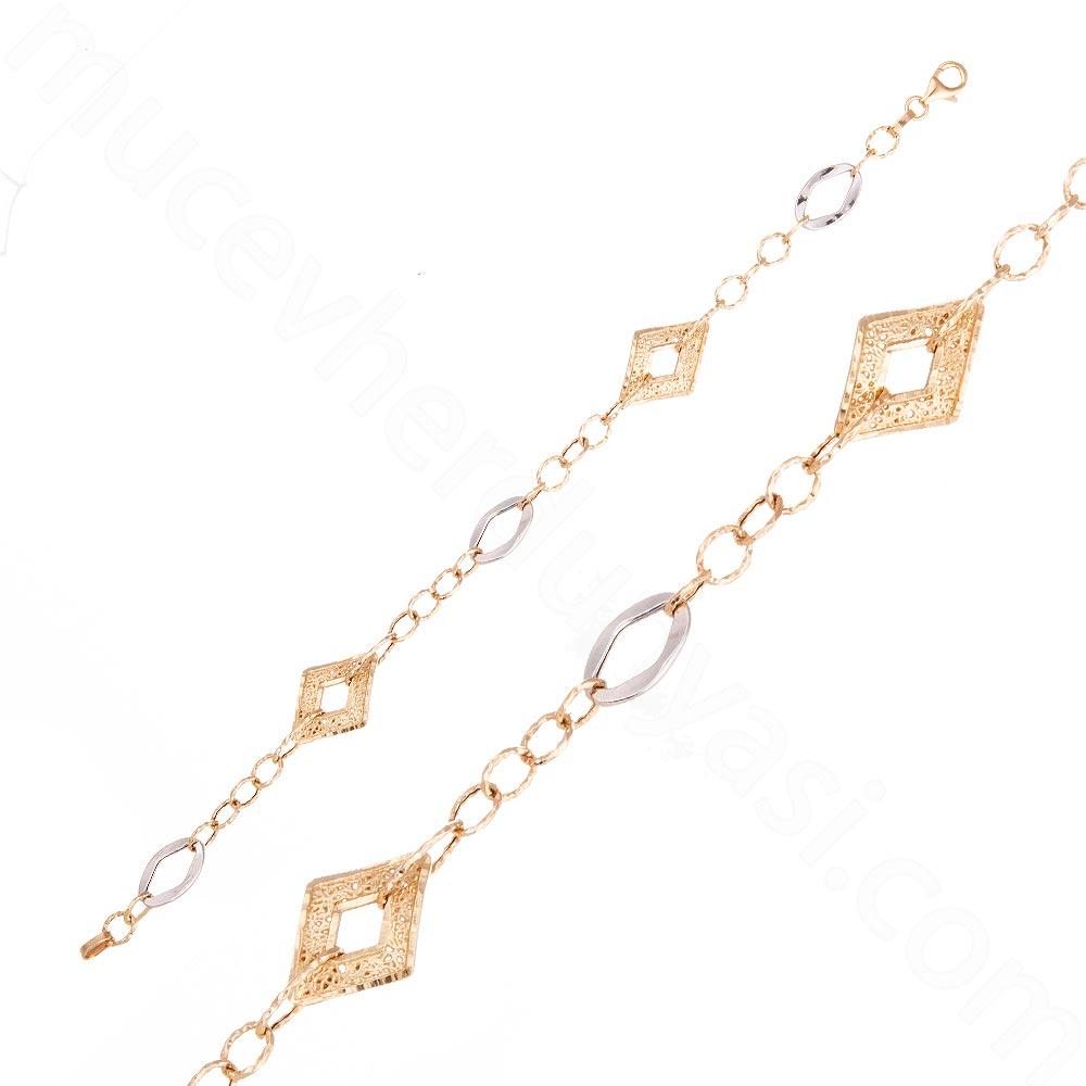Mücevher Dünyası - 14 Ayar Altın Tasarım Bileklik