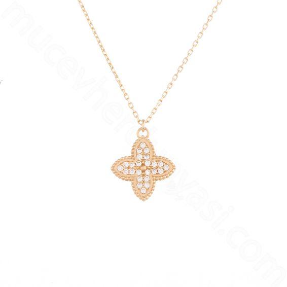 Mücevher Dünyası - 14 Ayar Altın Taşlı Kolye