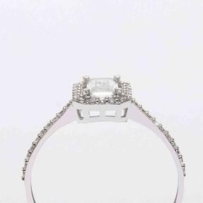 - 14 Ayar Baget Beyaz Altın Yüzük | Mücevher Dünyası