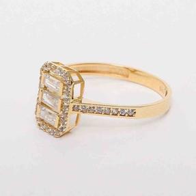 - 14 Ayar Baget Sarı Altın Yüzük | Mücevher Dünyası