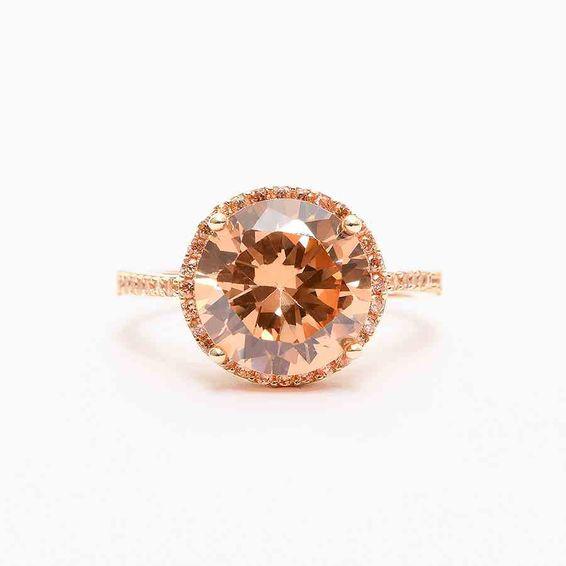 14 Ayar Büyük Taşlı Altın Yüzük | Mücevher Dünyası