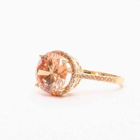 14 Ayar Büyük Taşlı Altın Yüzük | Mücevher Dünyası - Thumbnail