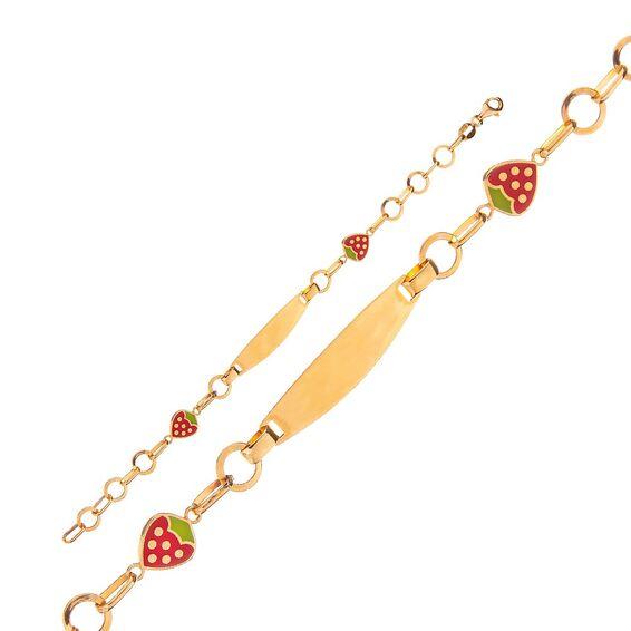 Mücevher Dünyası - 14 Ayar Çilekli Altın Çocuk Künye