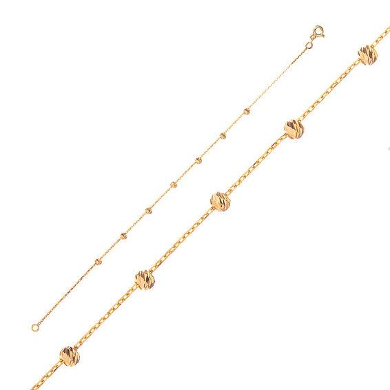 Mücevher Dünyası - 14 Ayar Dorika Altın Bileklik