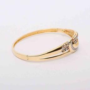 Mücevher Dünyası - 14 Ayar Dorika Altın Bilezik & Kelepçe | Mücevher Dünyası