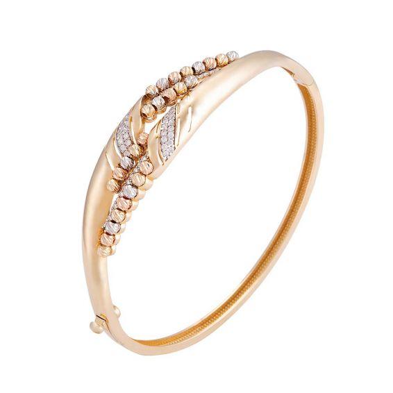 Mücevher Dünyası - 14 Ayar Dorika Altın Bilezik & Kelepçe   Mücevher Dünyası