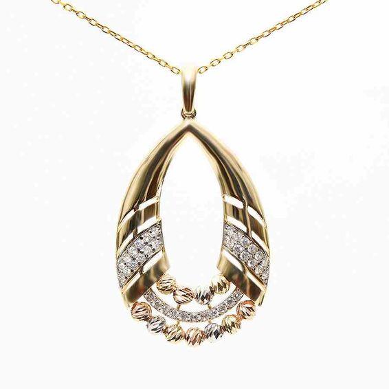 Mücevher Dünyası - 14 Ayar Dorika Altın Madalyon | Mücevher Dünyası