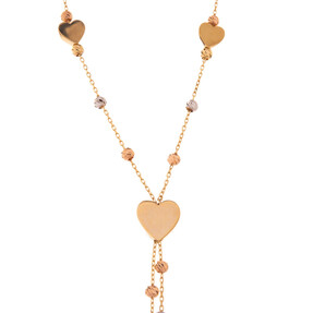 Mücevher Dünyası - 14 Ayar Dorika Kalp Altın Kolye