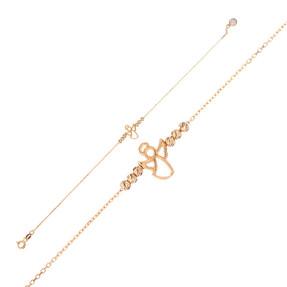 Mücevher Dünyası - 14 Ayar Dorika Melek Altın Bileklik