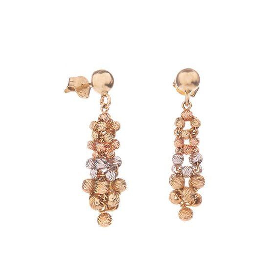 Mücevher Dünyası - 14 Ayar Dorika Toplu Altın Küpe