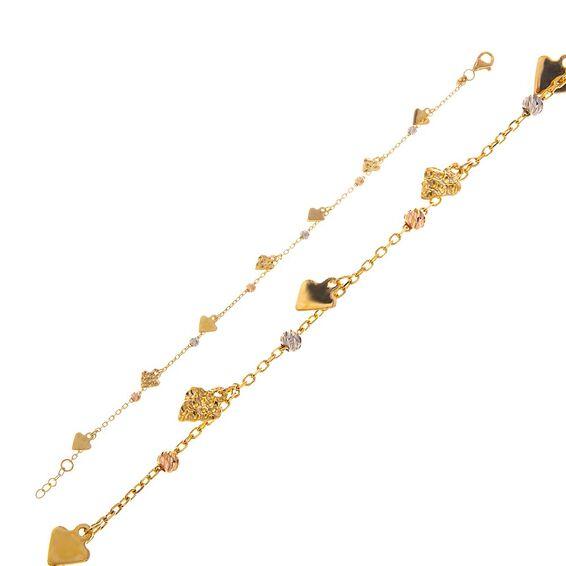 Mücevher Dünyası - 14 Ayar Dorika Üçgen Altın Bileklik