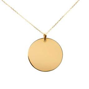 Mücevher Dünyası - 14 Ayar Düz Parlak Yuvarlak Altın Kolye
