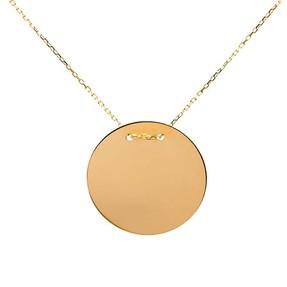 - 14 Ayar Düz Plaka Altın Kolye   Mücevher Dünyası