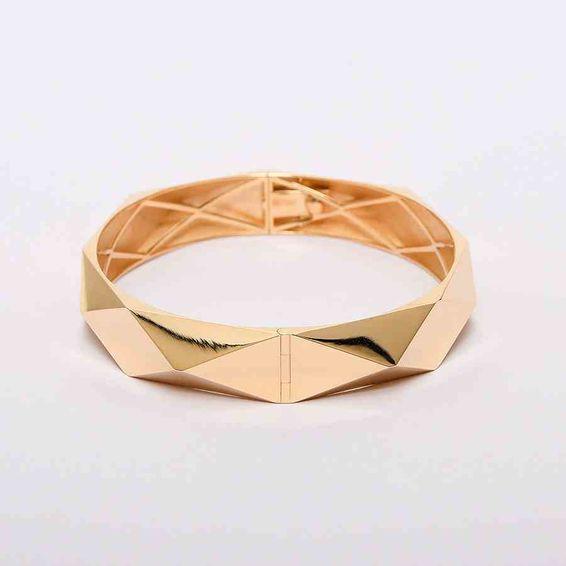 14 Ayar Geometrik Altın Bilezik & Kelepçe | Mücevher Dünyası