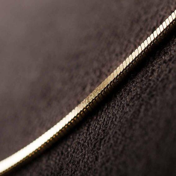 Mücevher Dünyası - 14 Ayar İthal Ezme Zincir 45 CM