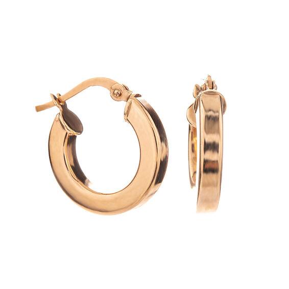 Mücevher Dünyası - 14 Ayar Kalın Halka Altın Küpe