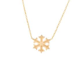 Mücevher Dünyası - 14 Ayar Kar Tanesi Altın Kolye