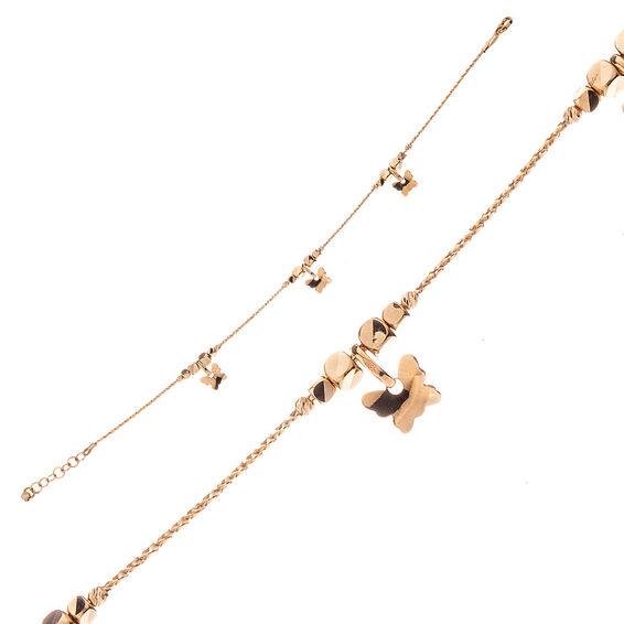 Mücevher Dünyası - 14 Ayar Kelebekli Küp Ve Dorika Altın Bileklik