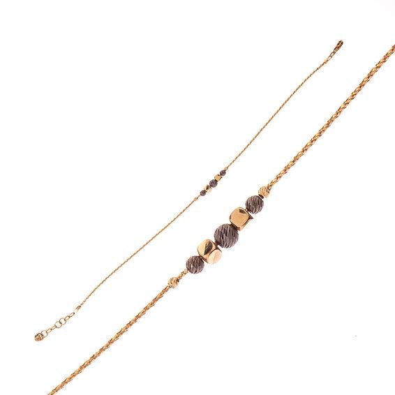 Mücevher Dünyası - 14 Ayar Küp Ve Dorika Altın Bileklik
