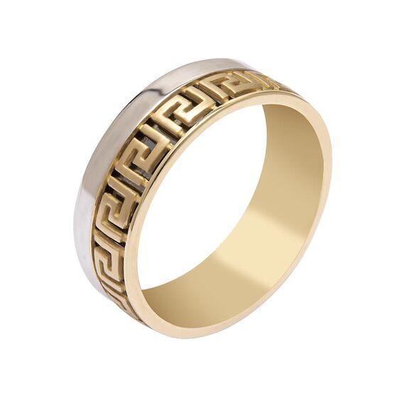 Mücevher Dünyası - 14 Ayar Labirent Altın Alyans (Erkek)