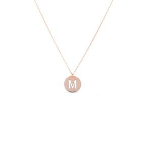 Mücevher Dünyası - 14 Ayar M Harf Altın Kolye