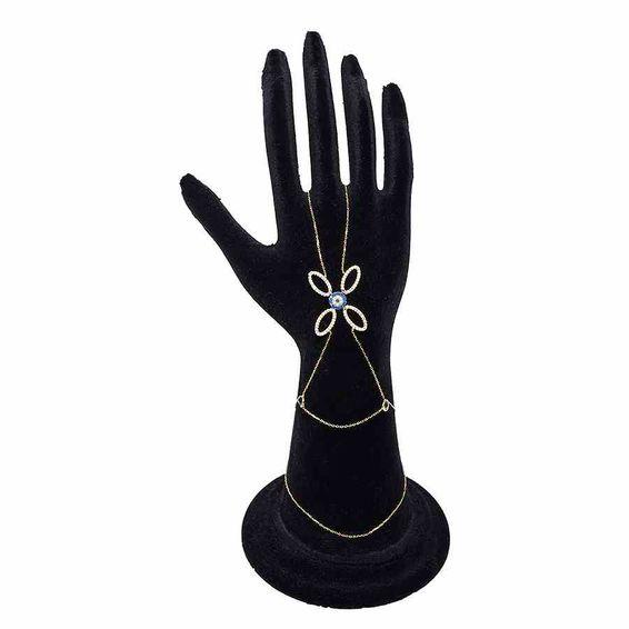 Mücevher Dünyası - 14 Ayar Mavi Taşlı Altın Şahmeran | Mücevher Dünyası