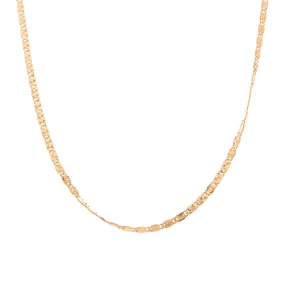 Mücevher Dünyası - 14 Ayar İşlemeli Altın Zincir