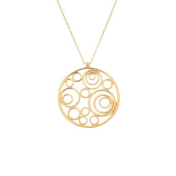 Mücevher Dünyası - 14 Ayar Halkalı Altın Kolye