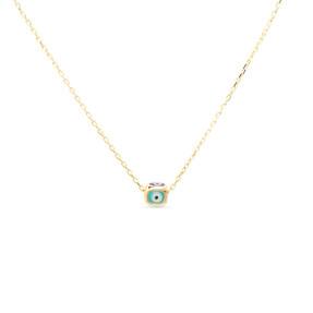 Mücevher Dünyası - 14 Ayar Nazar Boncuklu Altın Kolye