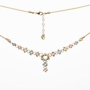Mücevher Dünyası - 14 Ayar Özel Dorika Altın Kolye | Mücevher Dünyası