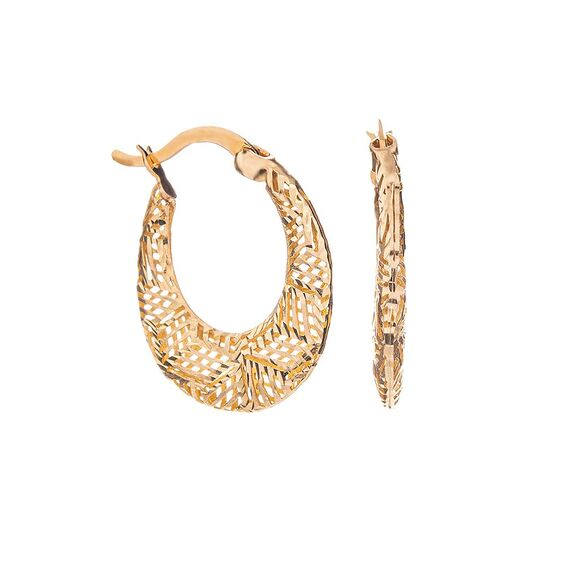 Mücevher Dünyası - 14 Ayar Özel Tasarım Altın Küpe