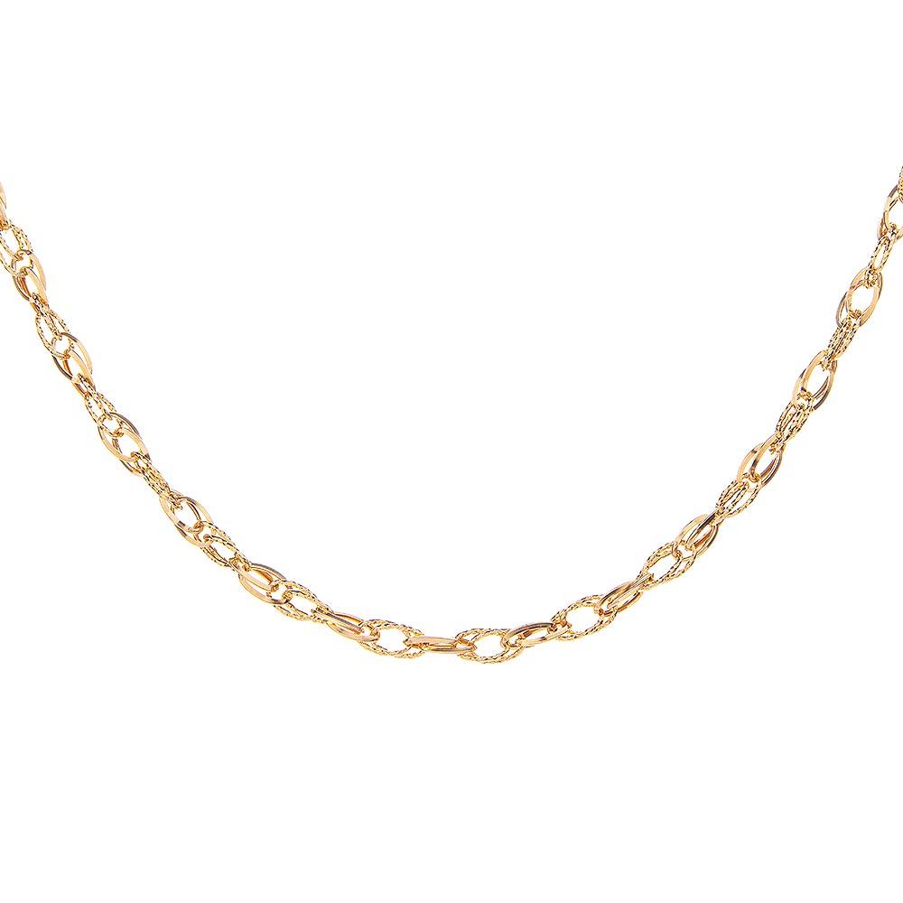 Mücevher Dünyası - 14 Ayar Özel Tasarım Zincir Altın Kolye