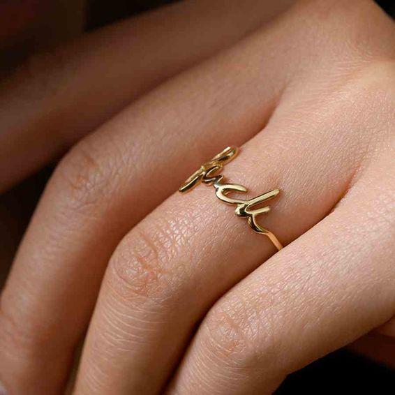 Mücevher Dünyası - 14 Ayar Luck Altın Eklem Şans Yüzük | Mücevher Dünyası