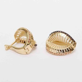 Mücevher Dünyası - 14 Ayar Piyano Altın Küpe | Mücevher Dünyası