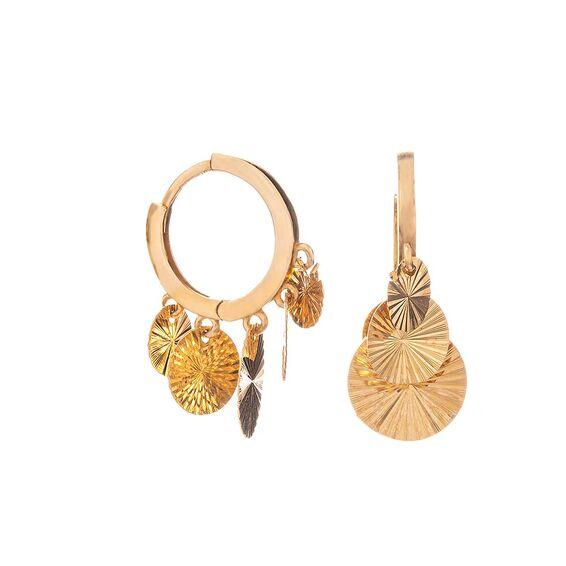 Mücevher Dünyası - 14 Ayar Pullu Altın Küpe