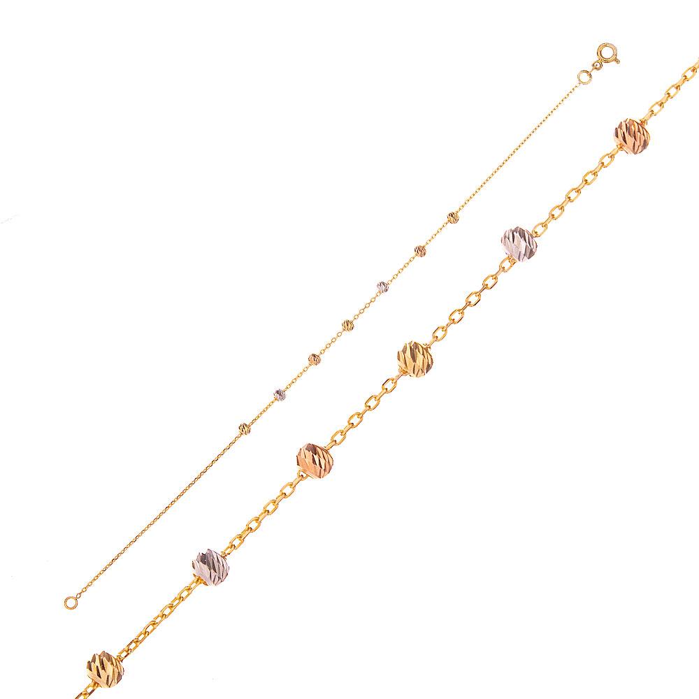 Mücevher Dünyası - 14 Ayar Renkli Dorika Altın Bileklik