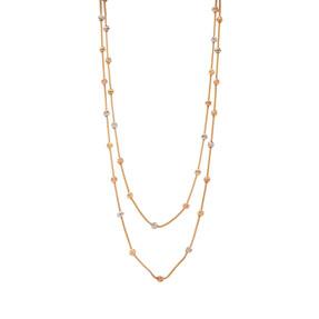 Mücevher Dünyası - 14 Ayar Renkli Dorika Altın Kolye